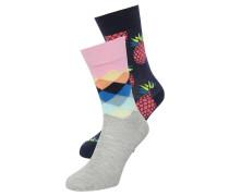 2 PACK - Socken - grau/navy