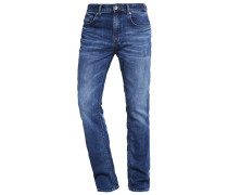 SHNTWOMARIO - Jeans Straight Leg - medium blue denim