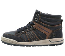 Sneaker high navy/brown