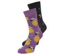 2 PACK - Socken - grau/lila