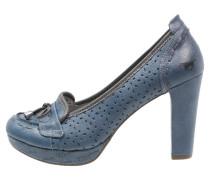 Plateaupumps blau