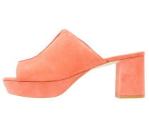 MOODY - Pantolette hoch - coral