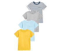 4 PACK - T-Shirt basic - yellow/blue/grey