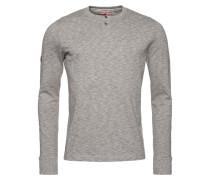 Langarmshirt - grey marl/ecru twist