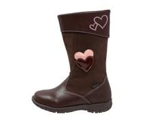 Stiefel dark brown/rosa