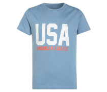 USA - T-Shirt print - petrole