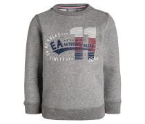 Sweatshirt chrom meliert