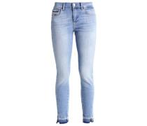 MID RISE SKINNY TWISTED ANKLE - Jeans Slim Fit - blue denim