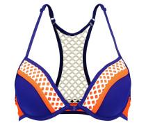 Bikini-Top - orange/navy