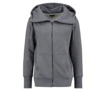 Sweatjacke mottled dark grey