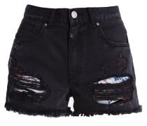 GINA - Jeans Shorts - black