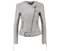 STARA Lederjacke light grey