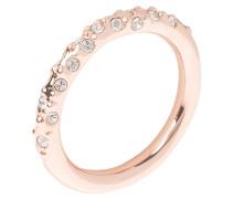 Ring rosé goldcoloured/crystal