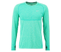 Langarmshirt teal charge/light green spark/reflective silver