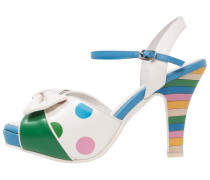 ANGIE - Plateausandalette - green/blue/multicolor