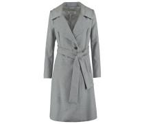 Wollmantel / klassischer Mantel alu melange