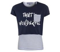2-IN-1 - T-Shirt print - tintenblau