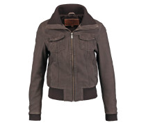 Lederjacke chocolate