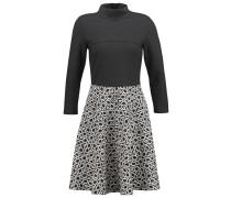 Jerseykleid black/offwhite