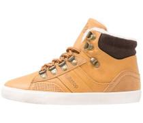 Sneaker high camel/black