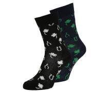 LUCKY 2 PACK Socken black