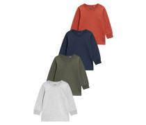 Langarmshirt grey/red/blue/green