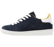 Sneaker low donker blauw/wit