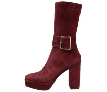 High Heel Stiefel bordeaux