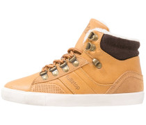 Sneaker high camel/black