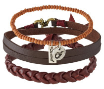 3 PACK Armband brown