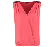 OMIA Bluse corail fonce