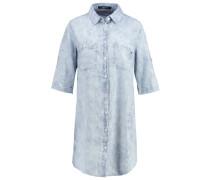 Blusenkleid light blue/white