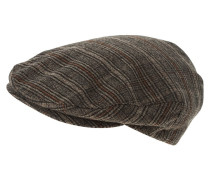 Mütze dark brown plaid
