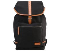 Tagesrucksack - black/cognac leather