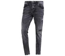 REY Jeans Slim Fit black destroyed
