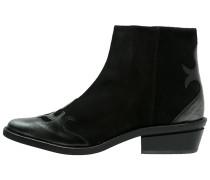 Cowboy-/ Bikerstiefelette - black/metallic