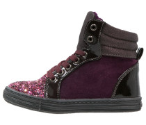 Sneaker high purple/burgundy