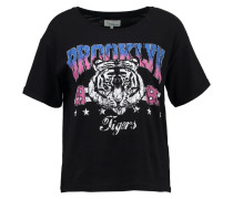 T-Shirt print - black/blue