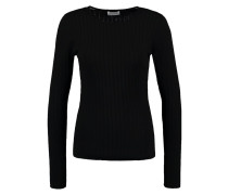 ACROSS - Strickpullover - black