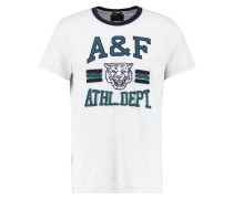 MUSCLE FIT - T-Shirt print - grey