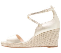 NELLIE - Plateausandalette - gold/pale gold