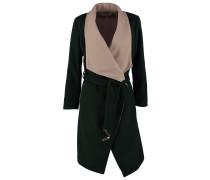 Wollmantel / klassischer Mantel - dark green
