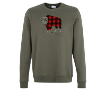 CHECK Sweatshirt peatmoss