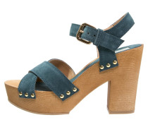 Plateausandalette blue