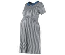 ELLY Jerseykleid off white/navy blue