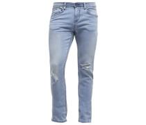 CULVER Jeans Slim Fit destroyed light stone wash