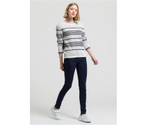 JELENA STRIPES Strickpullover off white