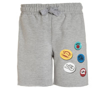 BUTTON - Shorts - grey melange