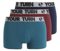 3 PACK Panties teal/navy/burgundy