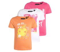 3 PACK TShirt print hellrot/pink
